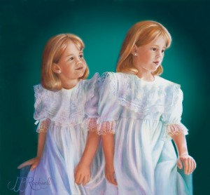 Custom Oil Portraits: 2 little girls