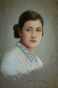 Head and Shoulders Oil Portrait of a classical Spanish woman