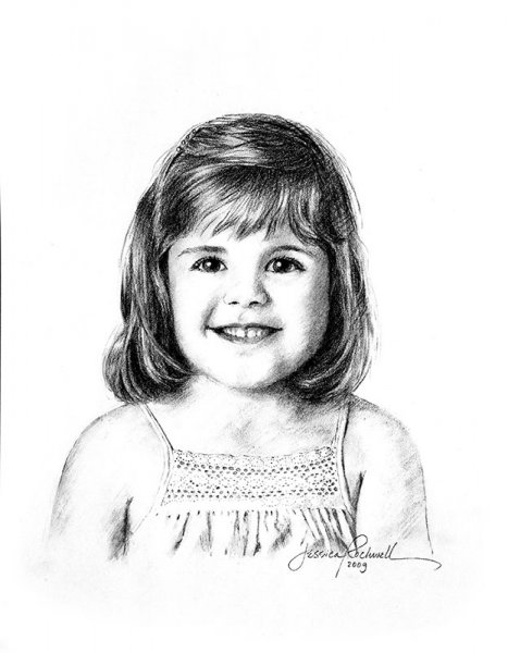 baby t CHARCOAL DRAWING