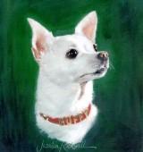Buffy Shows Off in a Custom Dog Oil Portrait