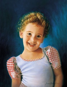 Children Oil Portraits-Smiley Girl