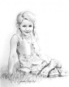 Photo to Painting Charcoal Drawing