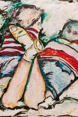 portrait of children on grass