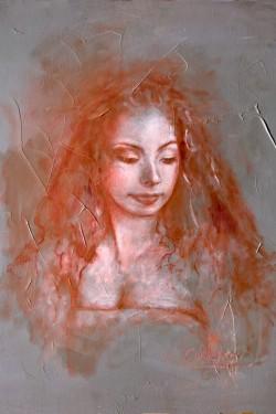 Oil Portrait Painting of Lauren