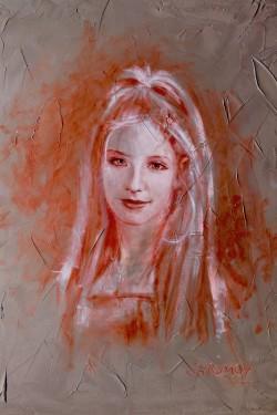 Portrait Oil Painting of Lisa