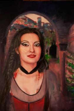 classic oil portrait