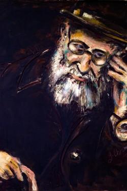 oil portrait of old man