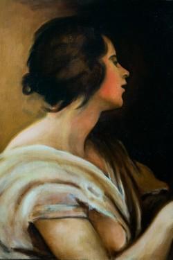 classical oil portrait painting