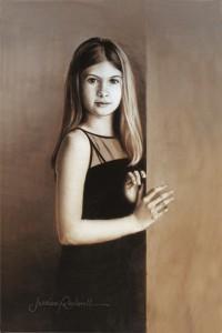 Custom Portrait Artist Paints Bre