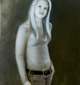 Casual Oil Portrait in Jeans