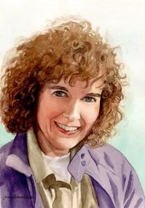 Realistic portrait artist makes self-portrait in 1991