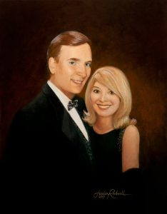 Classic Painted Portrait of My Mayor and His Wife